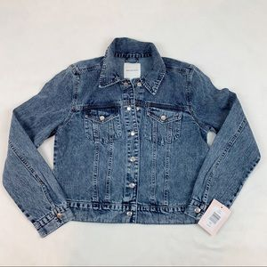 Avec Les Filles long sleeve denim jean jacket blue
